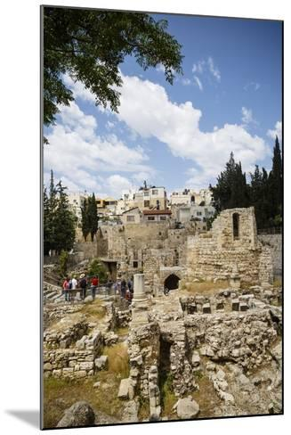 The Pool of Bethesda, the Ruins of the Byzantine Church, Jerusalem, Israel, Middle East-Yadid Levy-Mounted Photographic Print