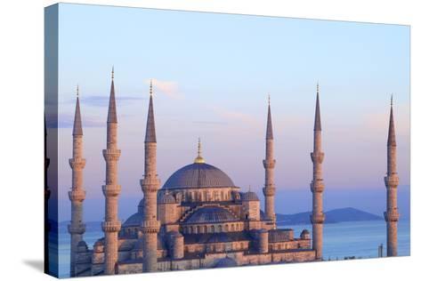 Blue Mosque (Sultan Ahmet Camii), Istanbul, Turkey-Neil Farrin-Stretched Canvas Print