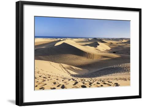 Sand Dunes of Maspalomas, Maspalomas, Gran Canaria, Canary Islands, Spain, Atlantic, Europe-Markus Lange-Framed Art Print