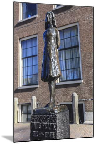 Statue of Anne Frank Outside Westerkerk, Near Her House, Amsterdam, Netherlands, Europe-Amanda Hall-Mounted Photographic Print
