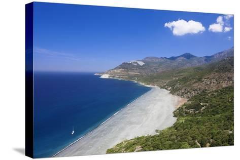 Beach of Nonza, Corsica, France, Mediterranean, Europe-Markus Lange-Stretched Canvas Print