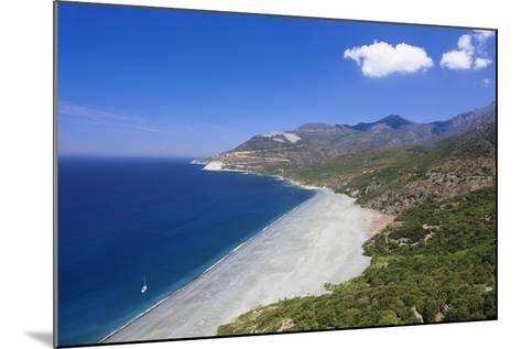 Beach of Nonza, Corsica, France, Mediterranean, Europe-Markus Lange-Mounted Photographic Print