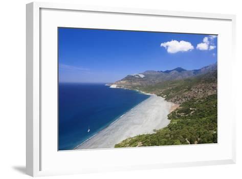 Beach of Nonza, Corsica, France, Mediterranean, Europe-Markus Lange-Framed Art Print
