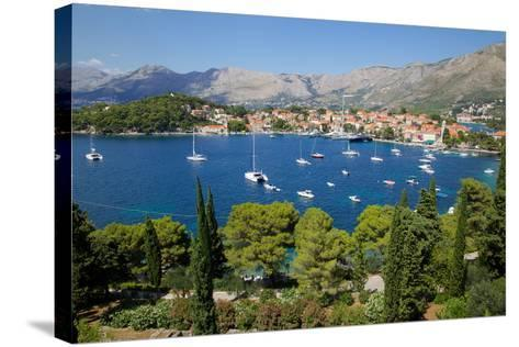 View of Old Town and Adriatic Coast-Frank Fell-Stretched Canvas Print