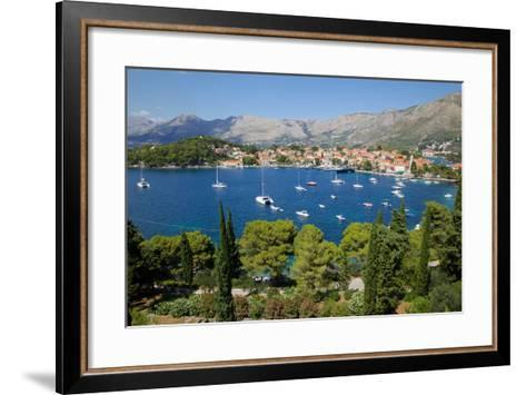 View of Old Town and Adriatic Coast-Frank Fell-Framed Art Print