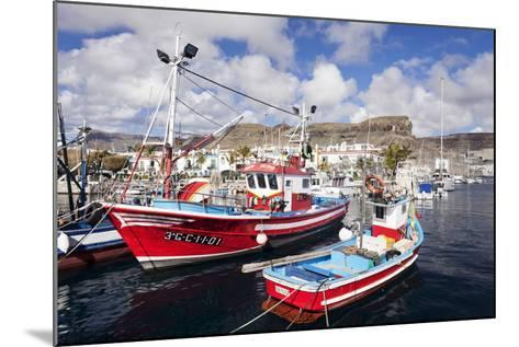 Fishing Boats at the Old Port of Puerto De Mogan-Markus Lange-Mounted Photographic Print