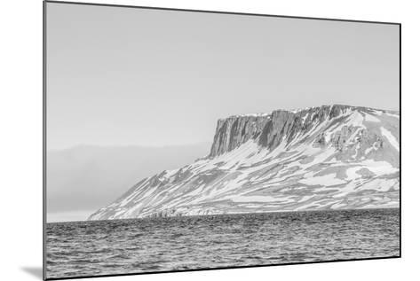 Alkefjellet (Auk Mountain) at Kapp Fanshawe, Spitsbergen, Svalbard, Norway, Scandinavia, Europe-Michael Nolan-Mounted Photographic Print