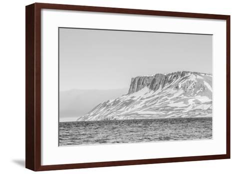 Alkefjellet (Auk Mountain) at Kapp Fanshawe, Spitsbergen, Svalbard, Norway, Scandinavia, Europe-Michael Nolan-Framed Art Print