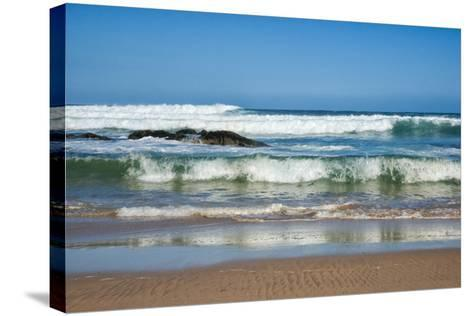 Waves Crashing Ashore from Indian Ocean-Kim Walker-Stretched Canvas Print