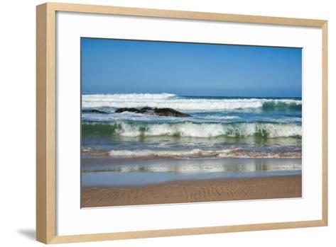 Waves Crashing Ashore from Indian Ocean-Kim Walker-Framed Art Print