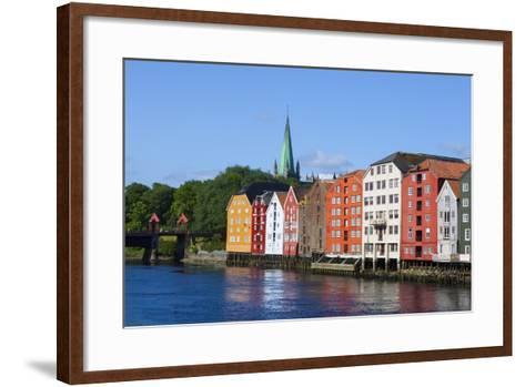 Nidaros Cathedral, Old Fishing Warehouses and Gamle Bybro, Trondheim-Doug Pearson-Framed Art Print