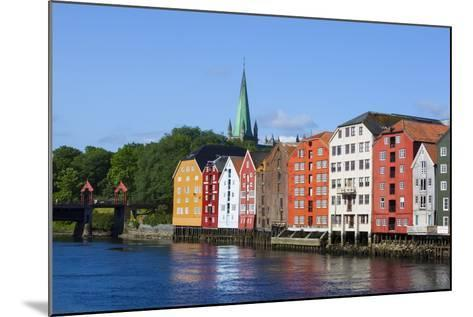 Nidaros Cathedral, Old Fishing Warehouses and Gamle Bybro, Trondheim-Doug Pearson-Mounted Photographic Print