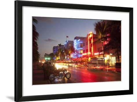 Ocean Drive, South Beach, Art Deco District-Angelo Cavalli-Framed Art Print