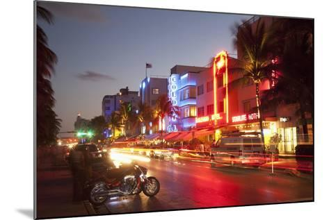 Ocean Drive, South Beach, Art Deco District-Angelo Cavalli-Mounted Photographic Print