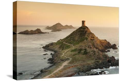 Tour De La Parata and the Islands of Iles Sanguinaires, Corsica, France, Mediterranean, Europe-Markus Lange-Stretched Canvas Print