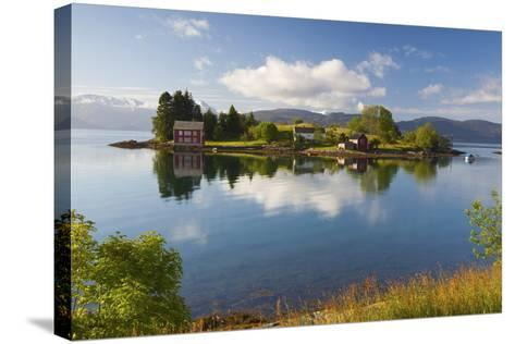 An Idyllic Rural Island in the Hardanger Fjord, Hordaland, Norway, Scandinavia, Europe-Doug Pearson-Stretched Canvas Print