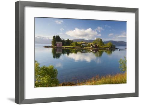 An Idyllic Rural Island in the Hardanger Fjord, Hordaland, Norway, Scandinavia, Europe-Doug Pearson-Framed Art Print
