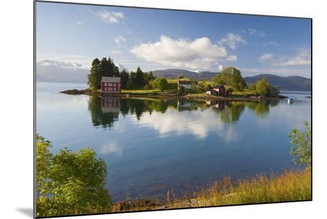 An Idyllic Rural Island in the Hardanger Fjord, Hordaland, Norway, Scandinavia, Europe-Doug Pearson-Mounted Photographic Print