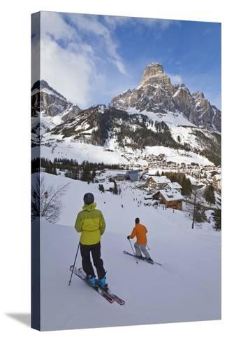Corvara Village in the Sella Ronda Ski Area-Gavin Hellier-Stretched Canvas Print