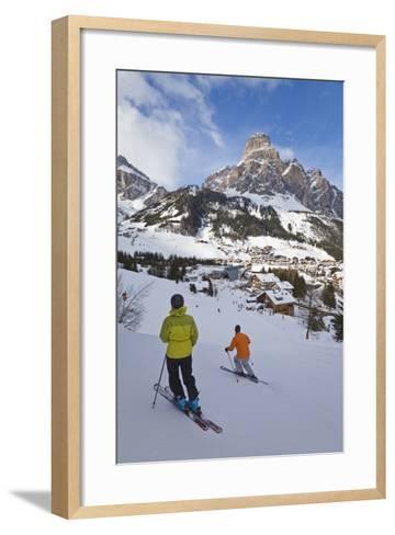 Corvara Village in the Sella Ronda Ski Area-Gavin Hellier-Framed Art Print