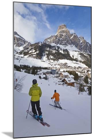 Corvara Village in the Sella Ronda Ski Area-Gavin Hellier-Mounted Photographic Print