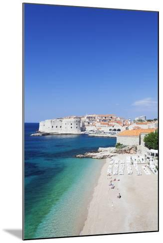 Banje Beach, Old Harbour and Old Town, UNESCO World Heritage Site-Markus Lange-Mounted Photographic Print