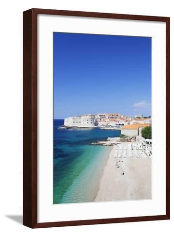 Banje Beach, Old Harbour and Old Town, UNESCO World Heritage Site-Markus Lange-Framed Art Print