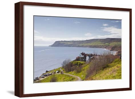 Robin Hood's Bay on the North York Moors Coastline, Yorkshire, England, United Kingdom, Europe-Julian Elliott-Framed Art Print