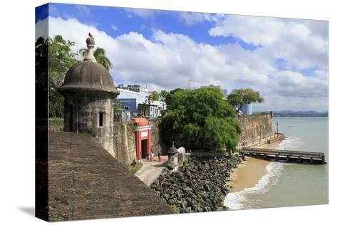 City Walls in Old San Juan, Puerto Rico, West Indies, Caribbean, Central America-Richard Cummins-Stretched Canvas Print