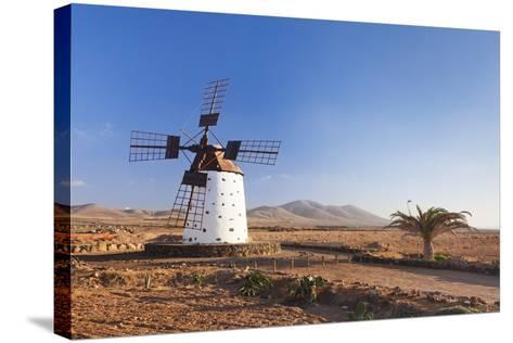 Windmill, El Cotillo, Fuerteventura, Canary Islands, Spain, Atlantic, Europe-Markus Lange-Stretched Canvas Print