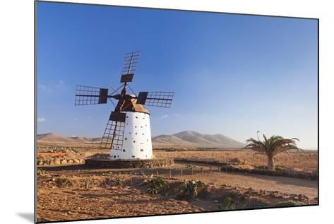 Windmill, El Cotillo, Fuerteventura, Canary Islands, Spain, Atlantic, Europe-Markus Lange-Mounted Photographic Print