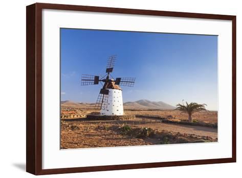 Windmill, El Cotillo, Fuerteventura, Canary Islands, Spain, Atlantic, Europe-Markus Lange-Framed Art Print
