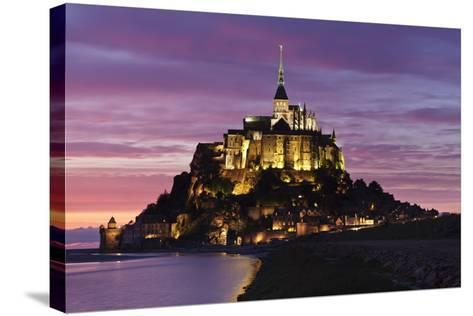 Mont Saint Michel at Sunset-Markus Lange-Stretched Canvas Print