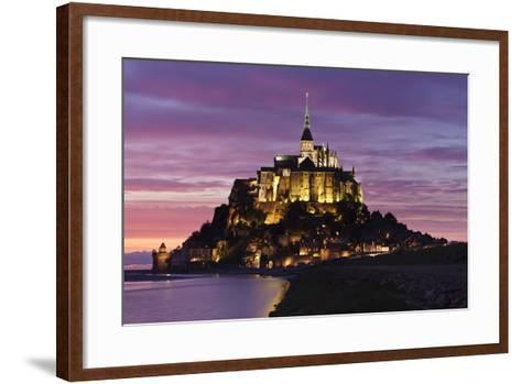 Mont Saint Michel at Sunset-Markus Lange-Framed Art Print