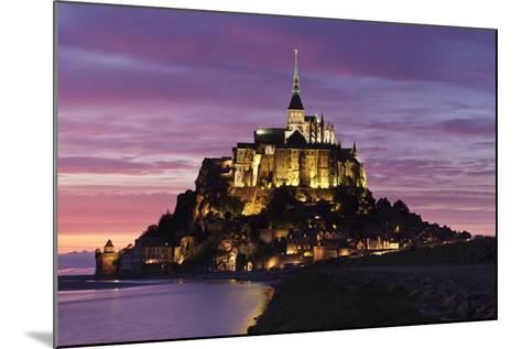 Mont Saint Michel at Sunset-Markus Lange-Mounted Photographic Print