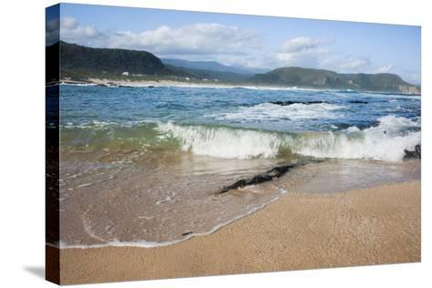 Waves Crashing Ashore at Nature Valley Beach-Kim Walker-Stretched Canvas Print