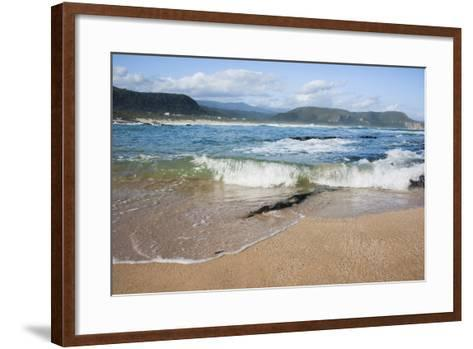 Waves Crashing Ashore at Nature Valley Beach-Kim Walker-Framed Art Print