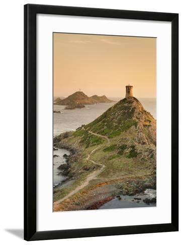 Tour De La Parata and the Islands of Iles Sanguinaires, Corsica, France, Mediterranean, Europe-Markus Lange-Framed Art Print