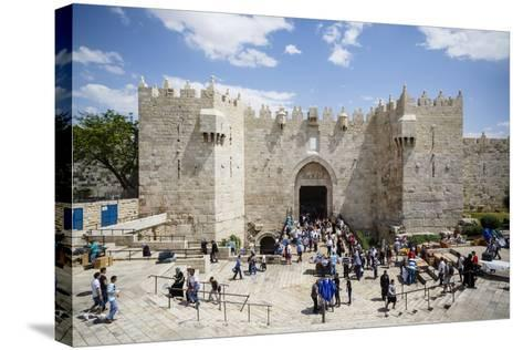 Damascus Gate in the Old City, UNESCO World Heritage Site, Jerusalem, Israel, Middle East-Yadid Levy-Stretched Canvas Print