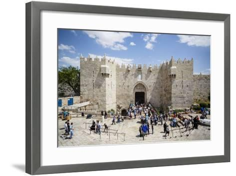Damascus Gate in the Old City, UNESCO World Heritage Site, Jerusalem, Israel, Middle East-Yadid Levy-Framed Art Print