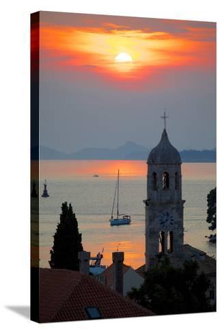 Adriatic Sunset, Cavtat, Dubrovnik Riviera, Dalmatian Coast, Dalmatia, Croatia, Europe-Frank Fell-Stretched Canvas Print