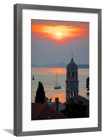 Adriatic Sunset, Cavtat, Dubrovnik Riviera, Dalmatian Coast, Dalmatia, Croatia, Europe-Frank Fell-Framed Art Print