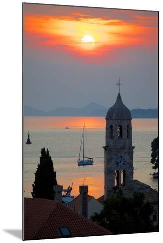 Adriatic Sunset, Cavtat, Dubrovnik Riviera, Dalmatian Coast, Dalmatia, Croatia, Europe-Frank Fell-Mounted Photographic Print