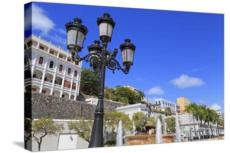 La Princesa Fountain in Old San Juan, Puerto Rico, Caribbean-Richard Cummins-Stretched Canvas Print