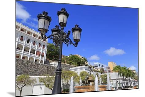 La Princesa Fountain in Old San Juan, Puerto Rico, Caribbean-Richard Cummins-Mounted Photographic Print