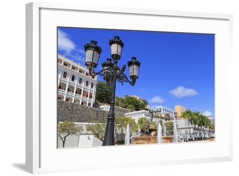 La Princesa Fountain in Old San Juan, Puerto Rico, Caribbean-Richard Cummins-Framed Art Print