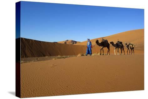 Moroccan Camel Driver-Stuart Black-Stretched Canvas Print