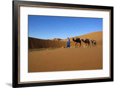 Moroccan Camel Driver-Stuart Black-Framed Art Print