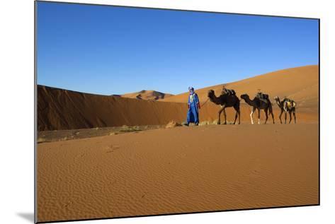 Moroccan Camel Driver-Stuart Black-Mounted Photographic Print