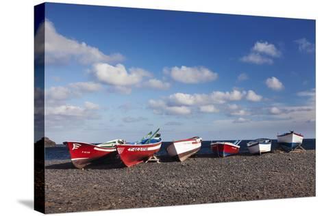 Fishing Boats, Pozo Negro, Fuerteventura, Canary Islands, Spain, Atlantic, Europe-Markus Lange-Stretched Canvas Print